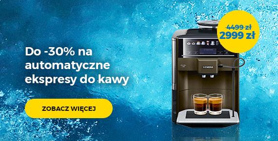 do -30% na automatyczne ekspresy do kawy
