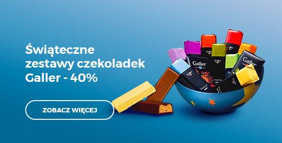 Świąteczne zestawy czekoladek Galler - 40%