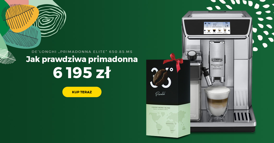 "Ekspres do kawy De'Longhi ""PrimaDonna Elite Experience ECAM 650.85.MS"" + Kawa ziarnista ""Parallel 36"", 1 kg"