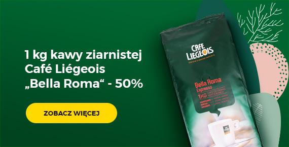 "1 kg kawy ziarnistej Café Liégeois ""Bella Roma"" - 50%"