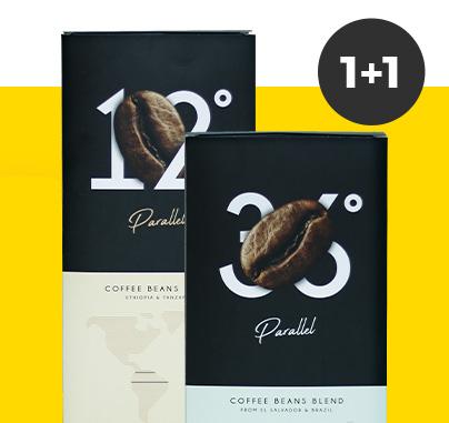 2 kg kawy ziarnistej Parallel w cenie jednego