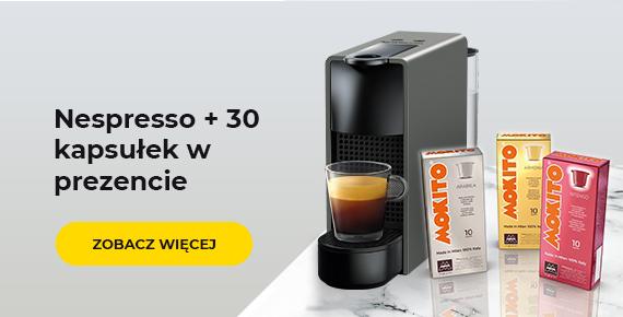Ekspres do kawy Nespresso + 30 kapsułek w prezencie