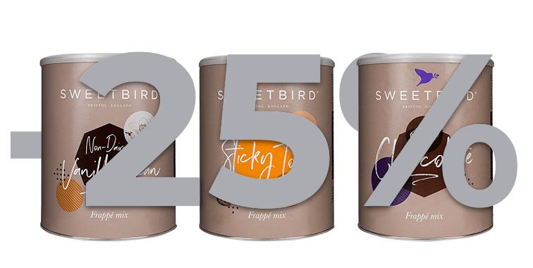 Mieszanki do frappe Sweetbird -25%