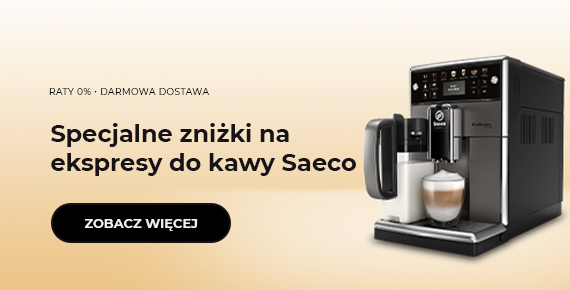 Specjalne zniżki na ekspresy do kawy Saeco