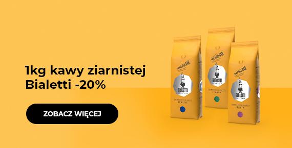 1kg kawy ziarnistej Bialetti -20%